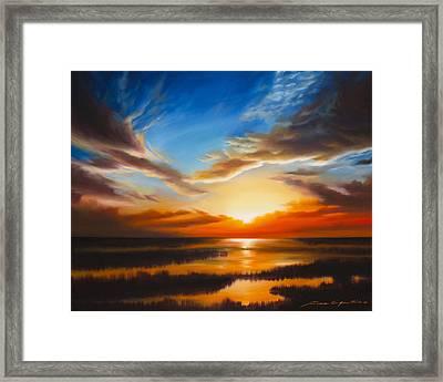 Sundown Framed Print