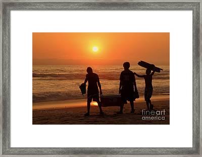 Sundown Framed Print by Kip Krause