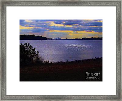 Sundown On A Cloudy Day Framed Print by Robyn King
