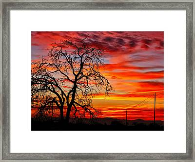 Sundown On Jeffcoat Framed Print