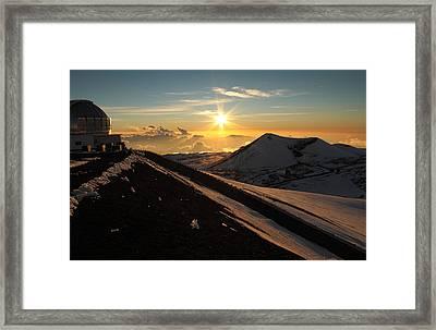 Framed Print featuring the photograph Sundown On Mauna Kea by Scott Rackers