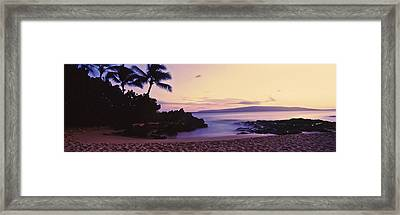 Sundown On North Shore, Oahu, Hawaii Framed Print