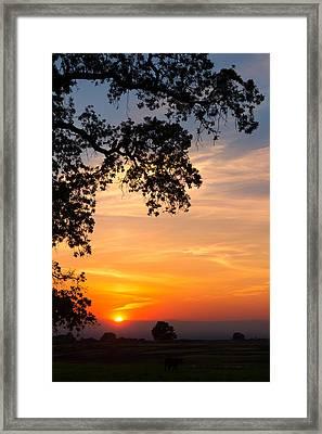 Sundown On Table Mountain Framed Print