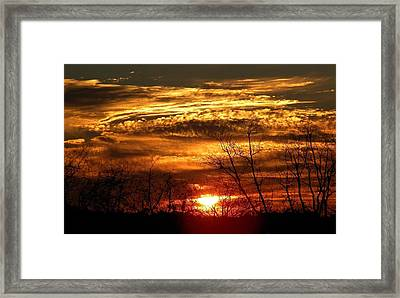 Sundown On The Farm Framed Print