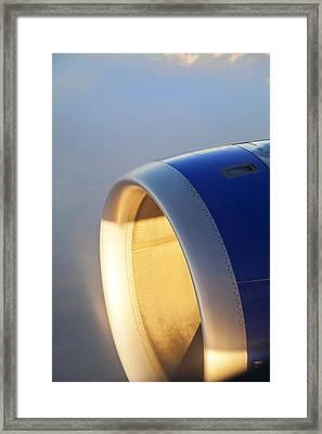 Sundown On The Jet Turbine Framed Print by Kantilal Patel