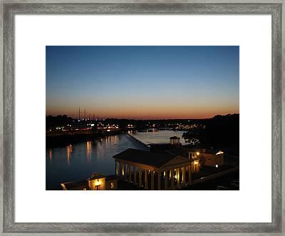 Sundown On The Schuylkill Framed Print by Christopher Woods
