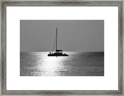 Sundown Sail Framed Print