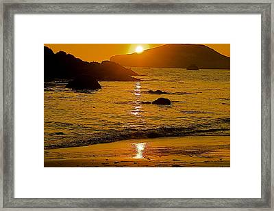 Sundown Sea Framed Print by Richard Hinger