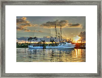 Sundown With Variety Pack Framed Print by Michael Thomas