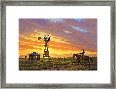 Sundowner Framed Print