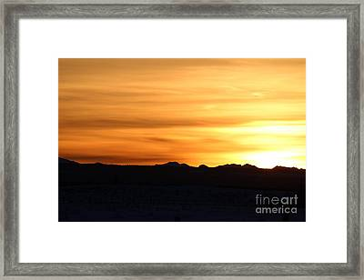 Framed Print featuring the photograph Sundre Sunset by Ann E Robson