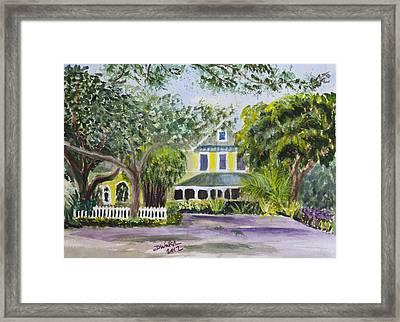 Sundy House In Delray Beach Framed Print