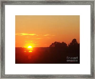 Framed Print featuring the photograph Sundown by Jasna Dragun