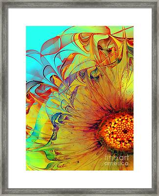 Sunflower Abstract Framed Print