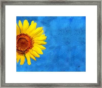Sunflower Art Framed Print by Ann Powell