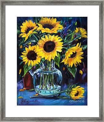 Sunflower Bouquet  Framed Print by Jennifer Beaudet
