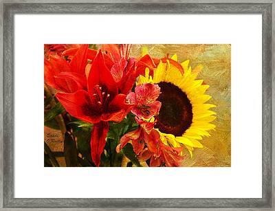 Sunflower Bouquet Framed Print by Sandi OReilly