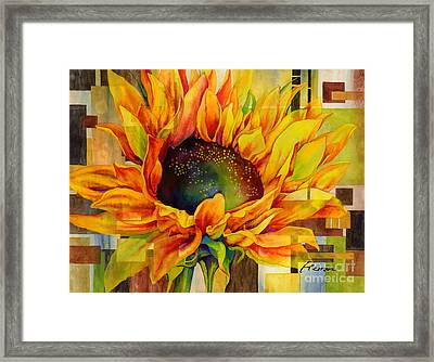 Sunflower Canopy Framed Print by Hailey E Herrera