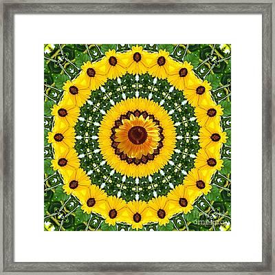 Sunflower Centerpiece Framed Print