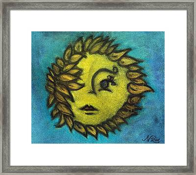 Sunflower Child Framed Print by Natalie Roberts