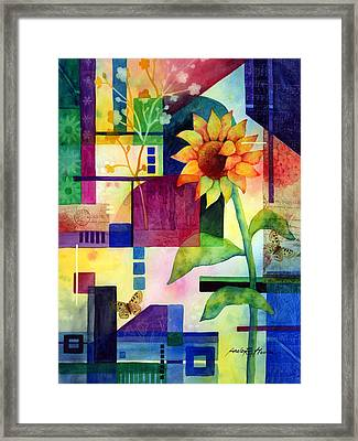 Sunflower Collage 2 Framed Print