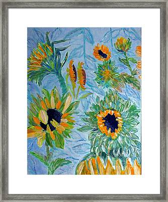 Sunflower Cycle Of Life 1 Framed Print