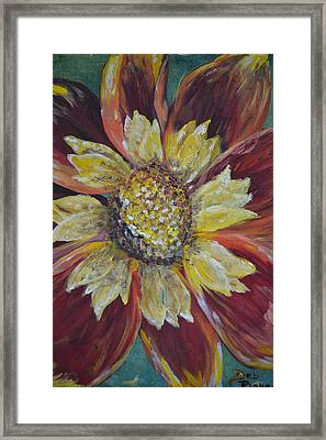 Framed Print featuring the painting Sunflower by Debbie Baker