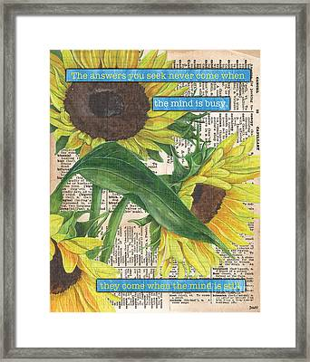 Sunflower Dictionary 1 Framed Print