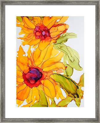 Sunflower Duo Framed Print by Vicki  Housel