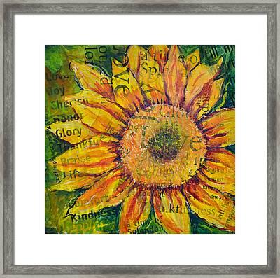 Sunflower Glory Framed Print