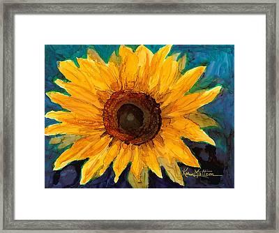 Framed Print featuring the painting Sunflower II by Karen Mattson