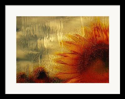 Rain Streaked Window Framed Prints