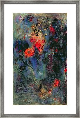 Sunflower Framed Print by Jane Deakin