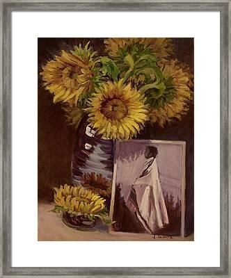 Sunflower Framed Print by Jane Thorpe