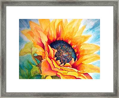 Sunflower Joy Framed Print by Janine Riley