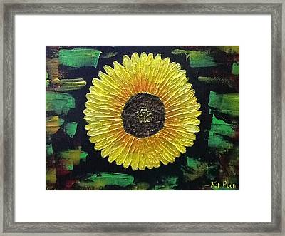 Sunflower Framed Print by Kat Poon