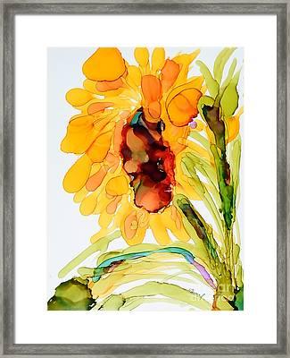 Sunflower Left Face Framed Print