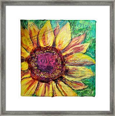 Sunflower Love  Framed Print