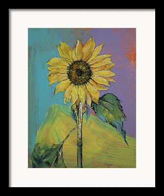 Sonnenblume Framed Prints