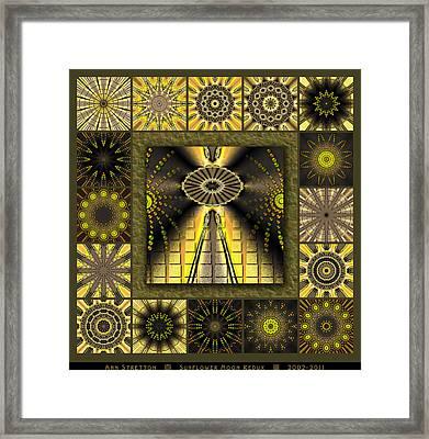 Sunflower Moon Redux Framed Print by Ann Stretton