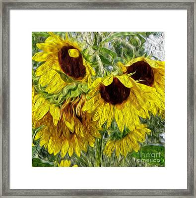 Framed Print featuring the photograph Sunflower Morn  by Ecinja Art Works