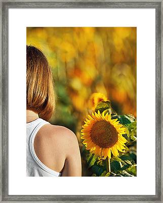 Sunflower Framed Print by Nur TANRIOVEN