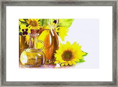 Sunflower Oil Framed Print by Lanjee Chee