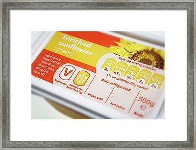 Sunflower Oil Spread Framed Print