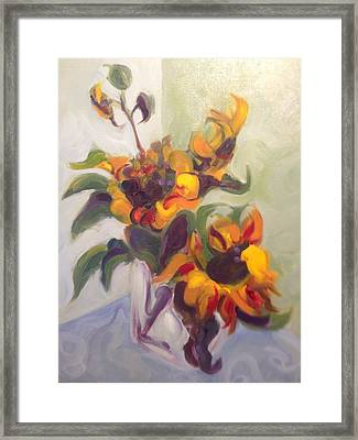 Sunflower Pirouette Framed Print