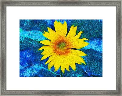 Sunflower Pop Abstract Framed Print