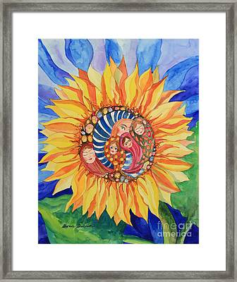 Sunflower Seeds Of Hope Framed Print