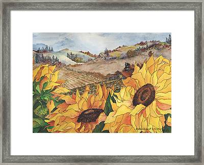 Sunflower Serenity Framed Print by Meldra Driscoll