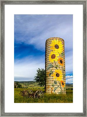 Sunflower Silo Framed Print