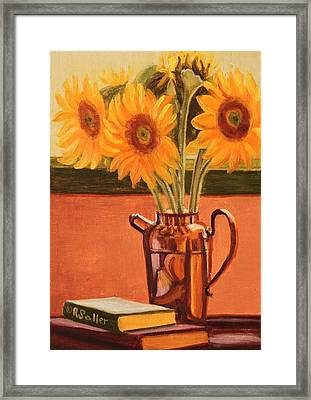 Sunflower Still Life Framed Print